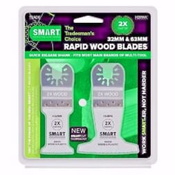 SMART 2 bladers sett Rapid Wood 32 og 63 mm - tre og plast